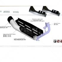 Боковые пороги трубами диаметр 76 мм и 70 мм (76 мм цена+10%)