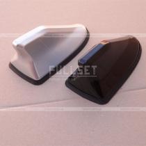 Антенна плавник на крышу, цвет: черный глянец, серебристый металлик