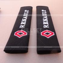 Чехлы для ремней пристегивания с вышитой эмблемой и надписью Рено
