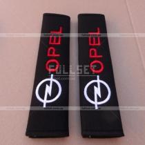 Декоративные чехлы для ремней пристегивания с вышитой эмблемой и надписью Опель