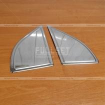 Накладки на передние двери Nissan Navara (05-12)