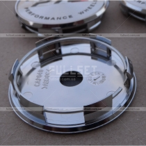 Хромированные заглушки в диски с металлизированной эмблемой PTC, диаметр 59 мм