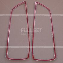 Хромированные окантовки передних фар Elantra 06-10