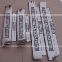 Накладки на пороги дверных проемов с надписью Land Cruiser Prado