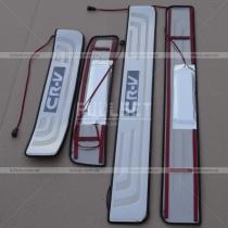 Накладки на пороги с неоновой подсветкой CR-V