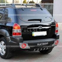 Накладка на задний бампер Hyundai Tucson (04-11)