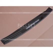 Защитная накладка площадки заднего бампера, цвет черный глянец
