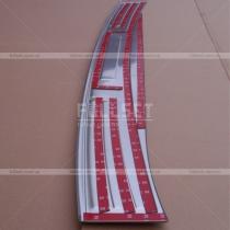 Стальная накладка на порог заднего бампера Land Cruiser Prado 150