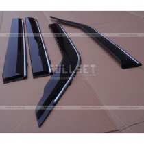 Дефлекторы окон с хромированным молдингом (ширина 11 см)