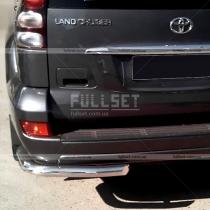 Защита заднего бампера (углы) Toyota Prado 120 (03-09)