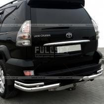 Защита заднего бампера (углы двойные) Toyota Prado 120 (03-09)