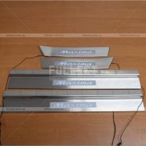 Накладки с неоном на пороги Nissan Maxima A32 (95-99)