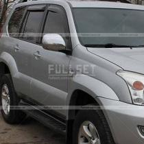 Хром на зеркала (пластик) Toyota Prado 120 (03-09)