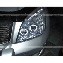 Передние фары в хроме, стиль Ауди Toyota Prado 120 (03-09)