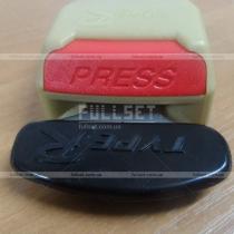 Тюнинговые заглушки-обманки в крепления ремня безопасности с логотипом Typer