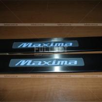 Накладки на пороги Nissan Maxima A33 (00-07)