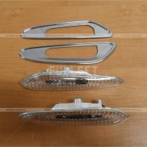 Указатели поворотов в крыло Е39 с хромированной окантовкой