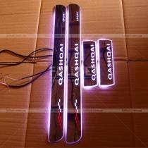 Накладки на пороги с неоновой подсветкой Qashqai