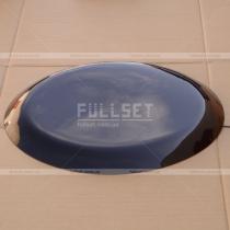 Наружная крышка колпака на запаску, гладкая, цвет-черный глянец