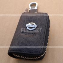 Ключница автомобильная, кожаная с эмблемой Nissan