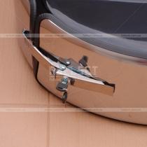 Чехол запасного колеса (хромированный обод, черная глянцевая крышка)