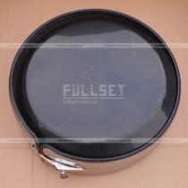 Чехол на запасное колесо (хромированный обод, черная глянцевая крышка)