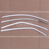 Хромированные накладки на верхние молдинги дверных окон Королла (2013+)