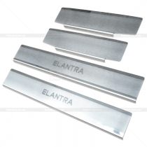 Накладки на пороги Hyundai Elantra 2011-...