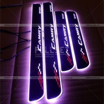 Наладки на пороги дверных проемов с неоновой подсветкой