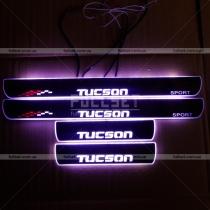 Порожки с подсветкой Hyundai Tucson (04-11)