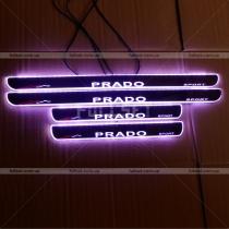 Пороги в салон с подсветкой Toyota Prado 120 (03-09)