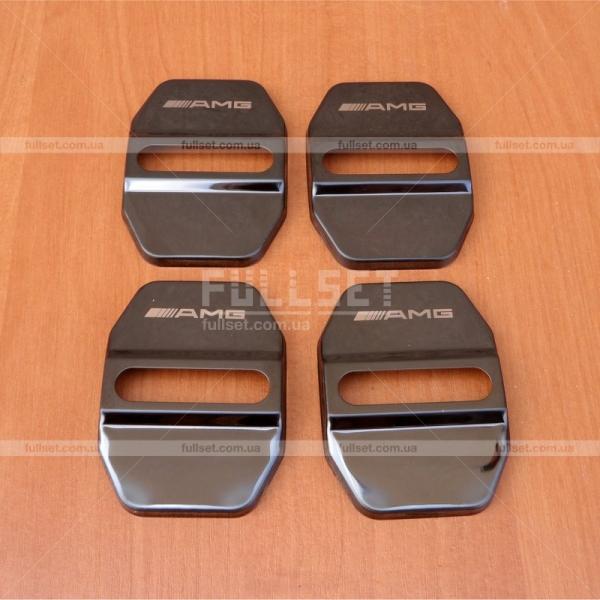 Накладки на дверные замки AMG Black