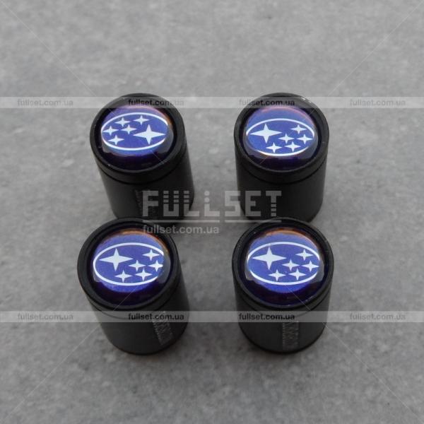 Колпачки на ниппеля Subaru черные